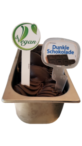Veganes Dunkles Schokoladeneis
