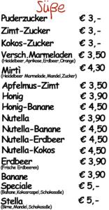 Süße Crepes in Regensburg
